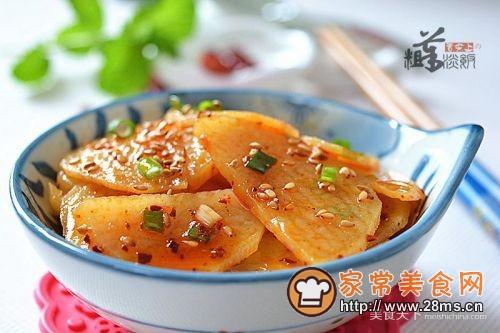 凉拌香辣土豆片的做法