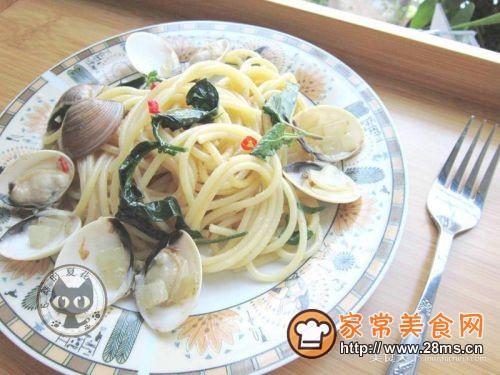 白酒蛤蜊意大利面的做法