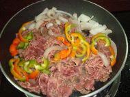 牛肉炒果条的做法步骤8