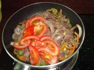 牛肉炒果条的做法步骤9