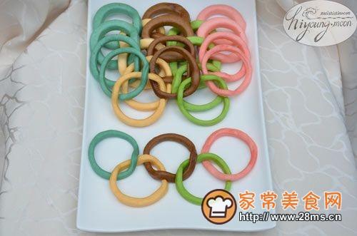 奥运五环饼的做法