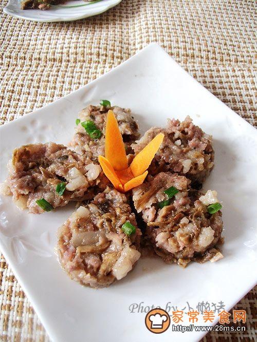 笋干菜蒸肉饼的做法