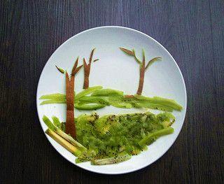 创意水果拼盘童话的做法