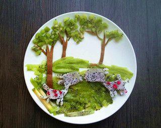 创意水果拼盘童话的做法图片