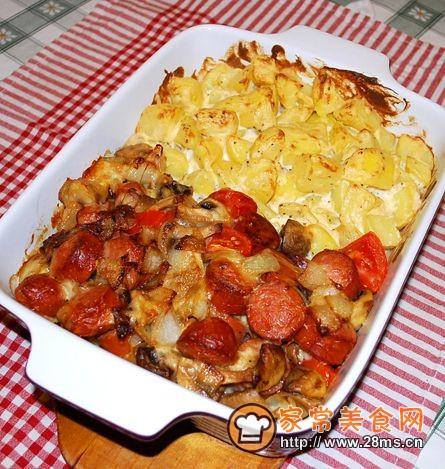 烤火腿肠和土豆的做法