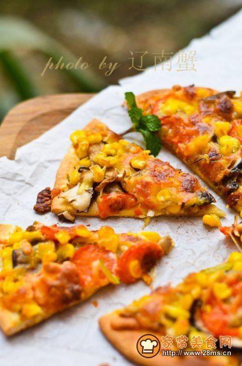 菌香披萨的做法