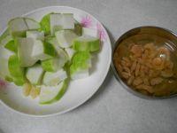 虾仁炒丝瓜的做法步骤2