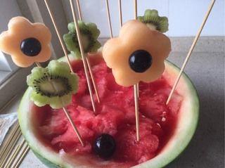 西瓜盆栽水果拼盘的做法