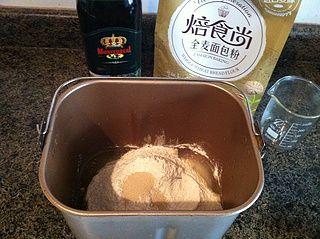 全麦橄榄油面包的做法步骤:2