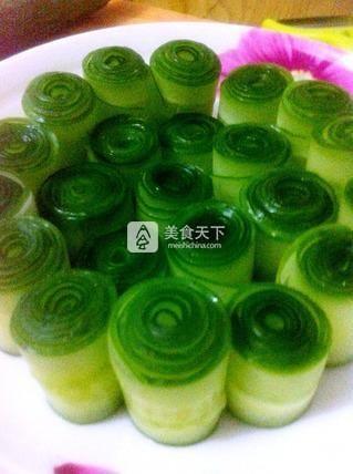 花样黄瓜凉菜的做法步骤:3