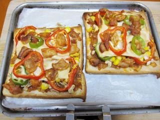 【DIY新奥尔良烤肉披萨】小文子出品~~【鸡肉吐司披萨】的做法步骤:10