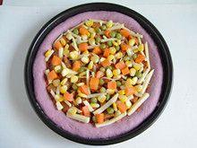 粒粒香紫薯披萨—赋予披萨亮丽的饼底的做法步骤:13