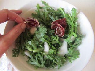 火腿茼蒿水果酸奶沙拉的做法步骤:4