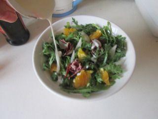 火腿茼蒿水果酸奶沙拉的做法步骤:8