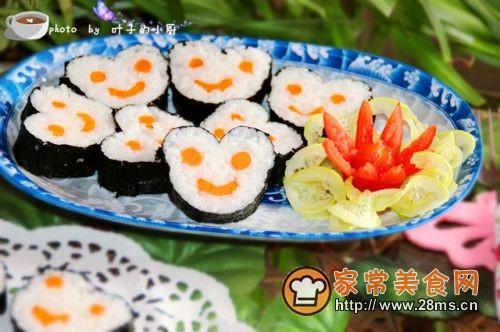 儿童创意饭可爱的米奇寿司卷的做法