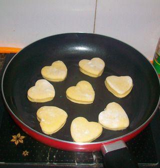 满满的爱心——南瓜饼的做法步骤:9