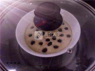南瓜葡萄干发糕的做法步骤:11