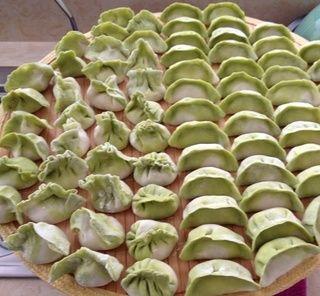 西葫羊肉白菜型饺子的做法