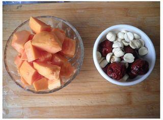 红枣桂圆木瓜汤的做法步骤:1