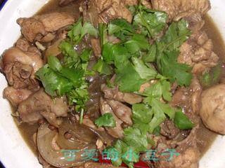 土豆粉烧仔鸡的做法步骤:8