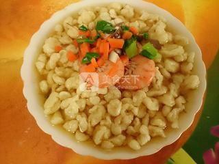 大虾珍珠疙瘩汤的做法步骤:14