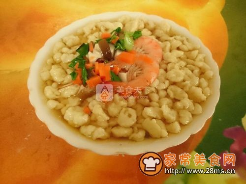 大虾珍珠疙瘩汤的做法