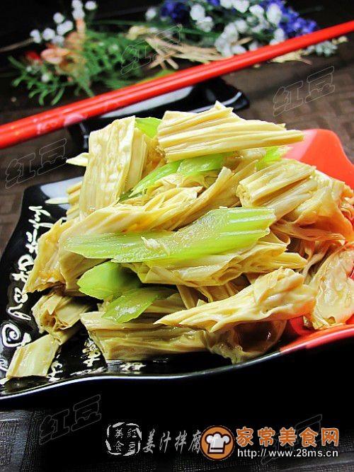 姜汁拌腐竹的做法