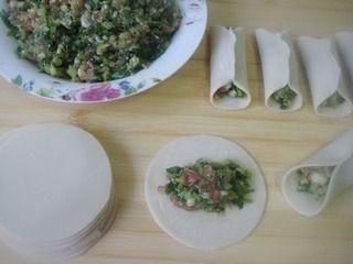 芹菜肉馅煎饺的做法步骤:5