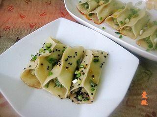 芹菜肉馅煎饺的做法步骤:9