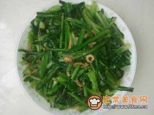 海米油麦菜的做法