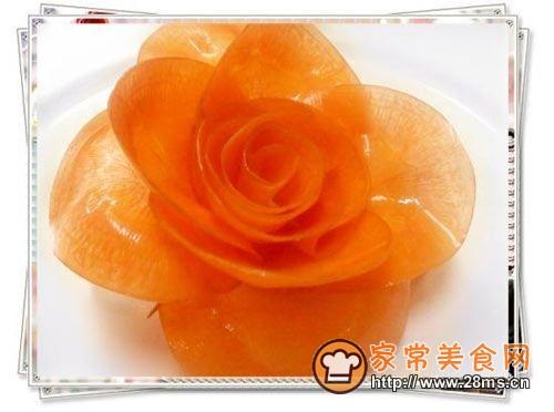 胡萝卜玫瑰花的做法_怎么做胡萝卜玫瑰花