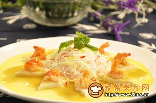 鲜虾粉丝蒸豆腐的做法