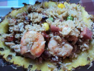 中式菠萝炒饭的做法步骤:8