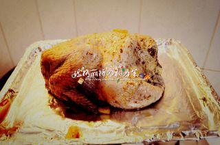 圣诞烤鸡的做法步骤:7