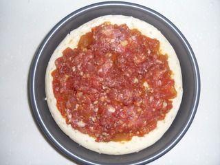 榨菜肉丝披萨的做法步骤:4