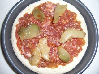 榨菜肉丝披萨的做法步骤:5