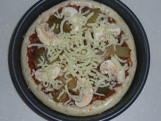 榨菜肉丝披萨的做法步骤:7
