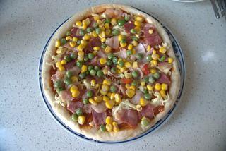 馅料十足培根烤肠PIZZA的做法步骤:9