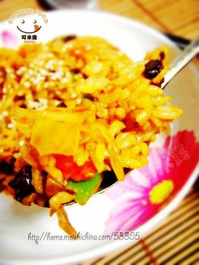 创意韩国泡菜炒饭的做法