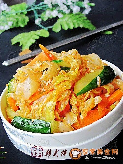 爽口开胃韩式拌白菜的做法