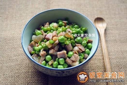 甜豆清炒咸肉丁的做法