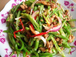 四季豆炒肉丝的做法步骤:8