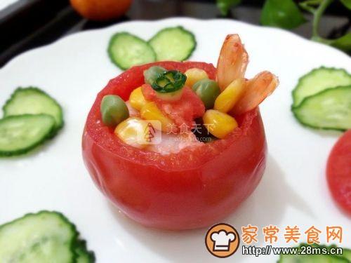 茶香虾仁番茄盅的做法