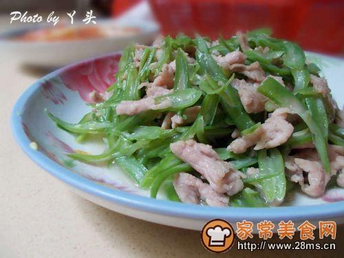 四季豆丝炒肉的做法