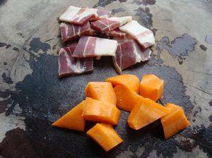 火腿砂锅杂菜的做法步骤:1