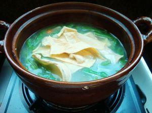 火腿砂锅杂菜的做法步骤:7