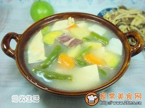 火腿砂锅杂菜的做法