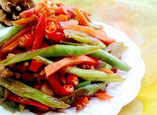 四季豆炒肉丝的做法步骤:10