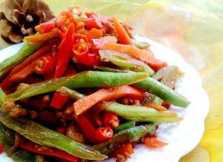 四季豆炒肉丝的做法步骤:11