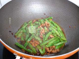 干煸四季豆的做法步骤:6
